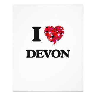 I Love Devon 11.5 Cm X 14 Cm Flyer