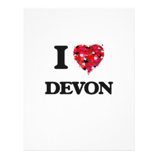 I Love Devon 21.5 Cm X 28 Cm Flyer