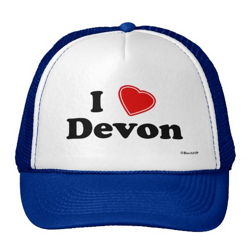 I Love Devon Trucker Hats