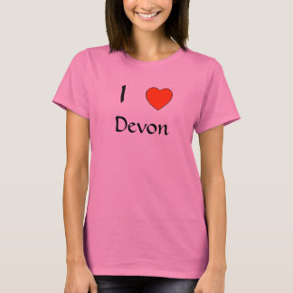 I love Devon T shirt