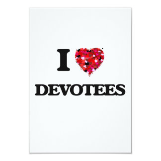 I love Devotees 9 Cm X 13 Cm Invitation Card