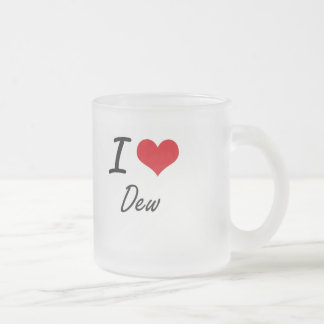 I love Dew Frosted Glass Mug