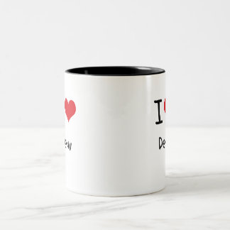 I Love Dew Two-Tone Mug