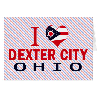 I love Dexter City Ohio Greeting Card