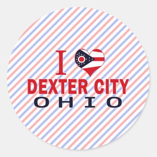 I love Dexter City, Ohio Round Sticker