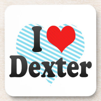 I love Dexter Drink Coasters