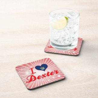 I Love Dexter Maine Drink Coasters
