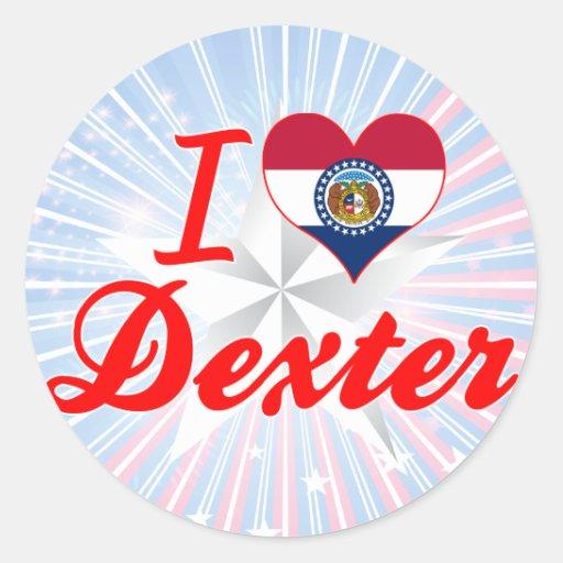 I Love Dexter, Missouri Round Stickers