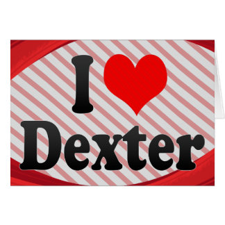 I love Dexter Note Card