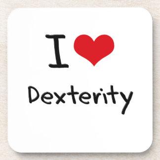 I Love Dexterity Beverage Coasters