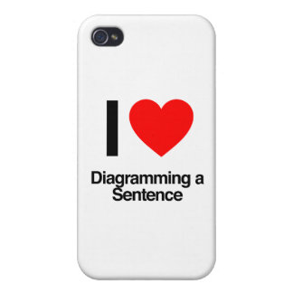 i love diagramming a sentence cover for iPhone 4