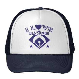 I Love Diamonds Baseball Trucker Hat