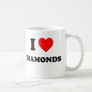 I Love Diamonds Coffee Mug