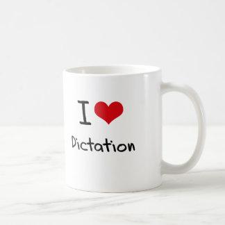 I Love Dictation Basic White Mug
