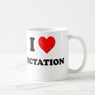 I Love Dictation Mugs