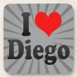 I love Diego Beverage Coaster