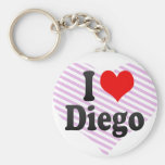 I love Diego Key Chain