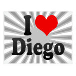 I love Diego Post Card