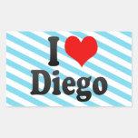 I love Diego Stickers
