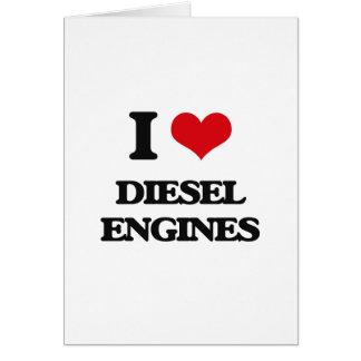 I love Diesel Engines Greeting Card