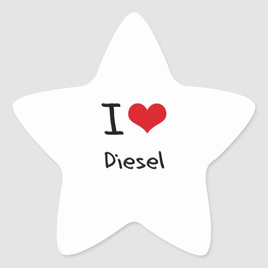 I Love Diesel Star Sticker