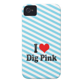 I love Dig Pink iPhone 4 Case-Mate Cases