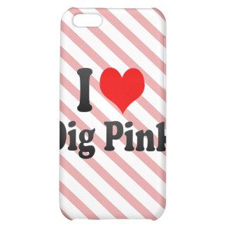 I love Dig Pink iPhone 5C Case