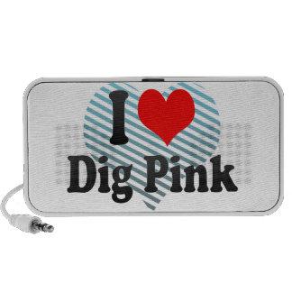 I love Dig Pink Travel Speakers
