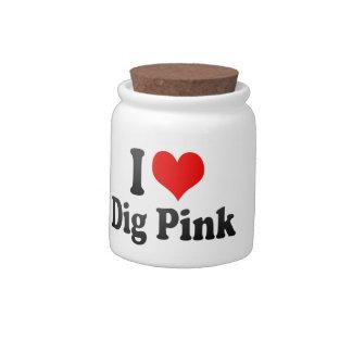 I love Dig Pink Candy Jars