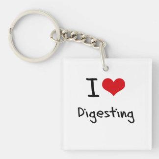 I Love Digesting Keychain