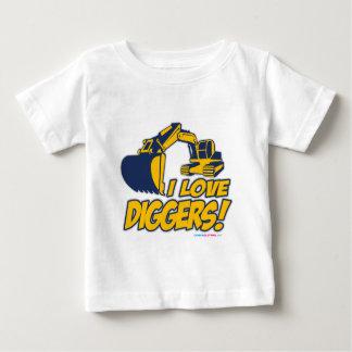 I Love Diggers Baby T-Shirt