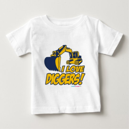 I Love Diggers Baby T-Shirt