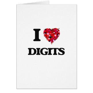 I love Digits Greeting Card