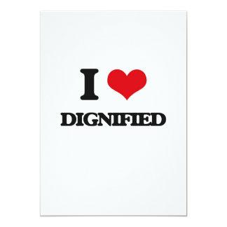 I love Dignified 5x7 Paper Invitation Card