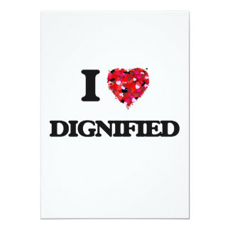 I love Dignified 13 Cm X 18 Cm Invitation Card