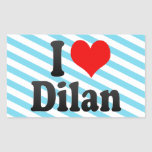 I love Dilan Rectangle Stickers