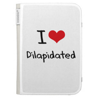 I Love Dilapidated Kindle 3 Cover
