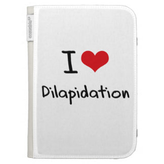I Love Dilapidation Kindle Folio Cases