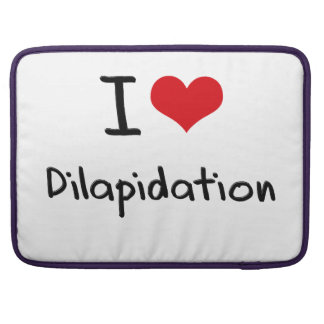 I Love Dilapidation Sleeve For MacBooks