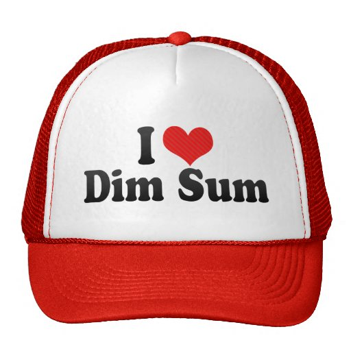 I Love Dim Sum Hats