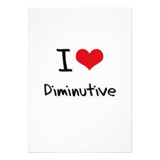 I Love Diminutive Custom Announcement
