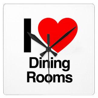 i love dining rooms wall clocks