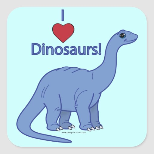 I Love Dinosaurs: Apatosaurus Sticker