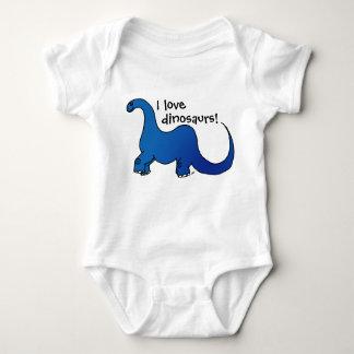I love dinosaurs! baby bodysuit