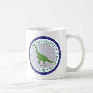 I Love Dinosaurs Brachiosaurus Blue Coffee Mugs