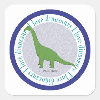 I Love Dinosaurs Brachiosaurus Blue Stickers
