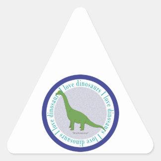 I Love Dinosaurs Brachiosaurus Blue Sticker
