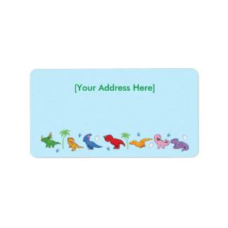 I Love Dinosaurs! (Cute) Address Label