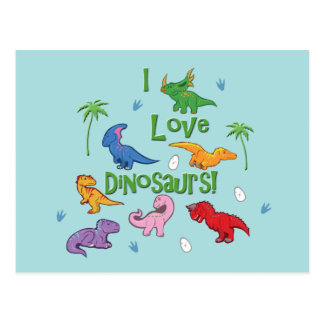 I Love Dinosaurs! (Cute) Postcard