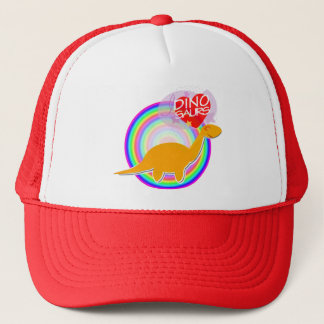 I love Dinosaurs Orange Dino Diplodocus Hat/ Cap